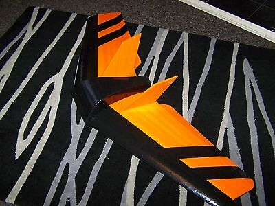 S.wing. rc flying wing. orange and black.