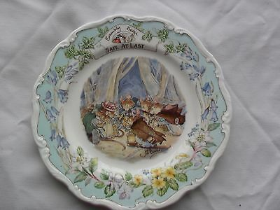 "ROYAL DOULTON BRAMBLY HEDGE PLATE ""SAFE AT LAST"" 8INCH 1st QUALITY"