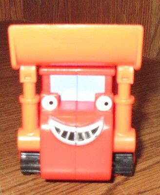 "EUC Bob the Builder 6"" Friction Push & Go Truck Orange Muck Dump Truck Used Toy"