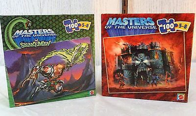 2002 Mattel MASTERS OF THE UNIVERSE He Man Snakeman Puzzles 100 pc NEW Lot  2