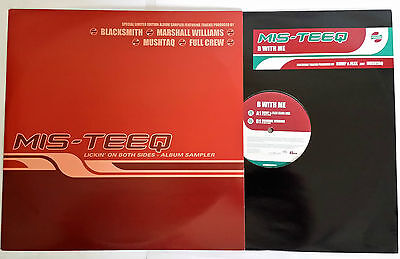 "MIS-TEEQ (2x12"") LICKIN' ON BOTH SIDES / B WITH ME (2001) UK PROMO NM"