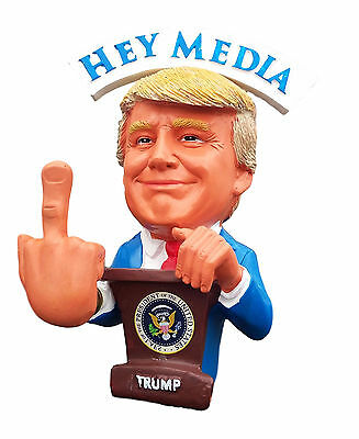 President Trump F##K U Media Bobble Middle Finger Bobblehead Funny #MAGA #Winner
