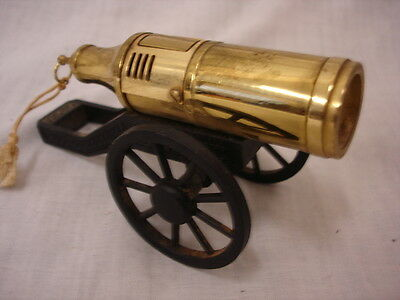 Vintage Modern Brass Cannon Table Cigarette Lighter