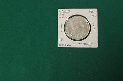 Malawi 1974 10 Kwacha Silver foreign coin - 10th Anniversary of Independence