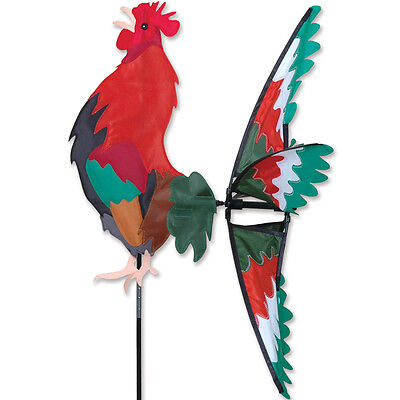 "26"" MORNING ROOSTER Wind Spinner Garden Stake by Premier Kites & Designs #25011"