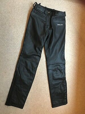 Segura Black Leather Ladies Motorcycle Trousers Size 8