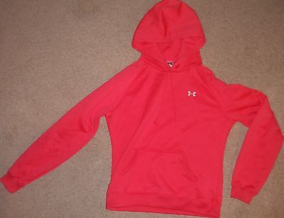Womens Small Under Armour Fleece Pullover Pink Hoodie Sweatshirt