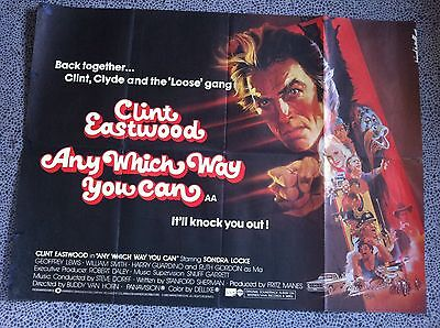 ANY WHICH WAY YOU CAN - Original UK quad poster