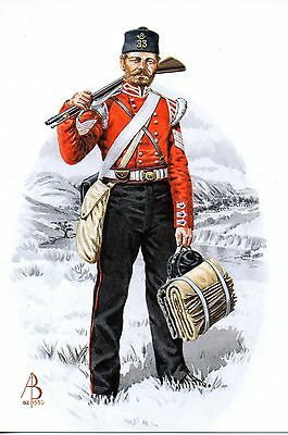 33Rd Duke Of Wellingtons Regiment Sergeant Artist A.baker Military Postcard Mint