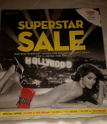 Frederick's of Hollywood Superstar Sale 2010 Catalog Women's Fashion Lingerie