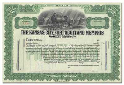 Kansas City, Fort Scott and Memphis Railway Company Stock Certificate