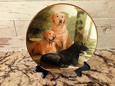 Labrador Dog Collector Plate Black & Yellow Lab Canine Companions
