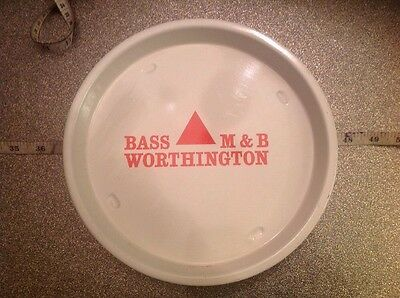 Vintage 1970's 80's Bass M&B Worthington Pub Bar Tray Beer Advertising