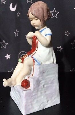 SATURDAY'S CHILD (Girl) by Royal Worcester Figurine #3262 Porcelain
