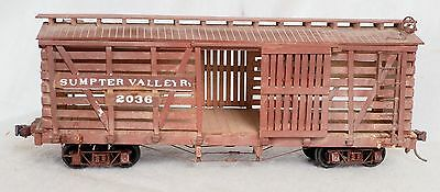 On3 Sumpter Valley SVRR Stock Cattle Car #2036 Built-up Weathered
