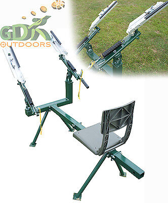 Double Arm Manual Seated Clay Pigeon Trap,clay Target Thrower, Rabbit Trap Dt500