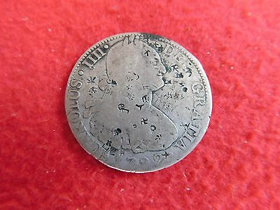 1799 8 Reales Mexico Pirate Treasure Silver Coin Chop Marks