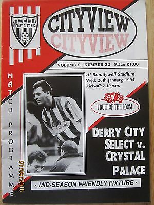 DERRY CITY  v  CRYSTAL PALACE     26 Jan 1994