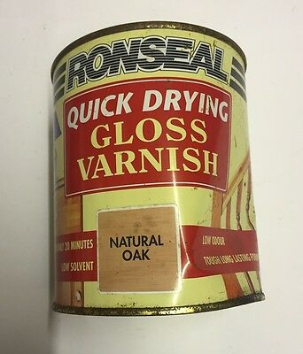 Ronseal Quick Drying Varnish Gloss Natural Oak 750ml Diy Interior