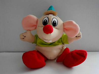 GUS THE MOUSE character beanie soft toy plush/comforter CINDERELLA Disney Store