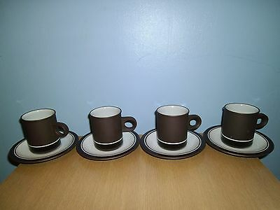 Hornsea Contrast Coffee Cup and Saucer set of 4