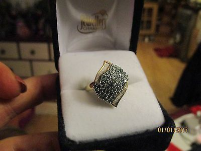 Full one and a half CT of sparkling blue and white diamonds!! Ring RRP £1700