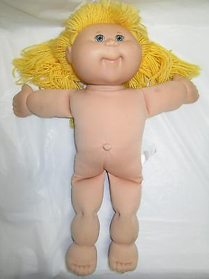 2004 Cabbage Patch Kid Doll Blonde Blue Eyes Female W/ Hair Bow Nude