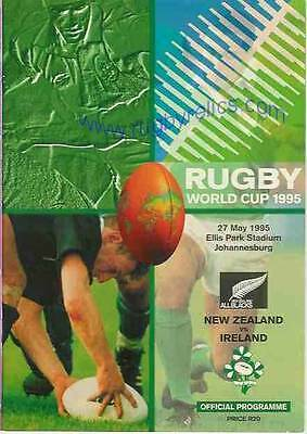 New Zealand v Ireland 1995 RUGBY WORLD CUP PROGRAMME