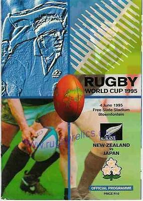 New Zealand v Japan 1995 RUGBY WORLD CUP PROGRAMME