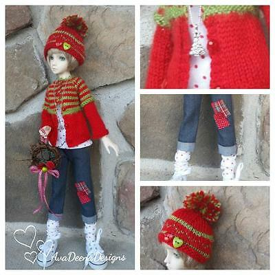"""REDUCED! bjd msd 1/4  girl 16""""  Christmas outfit   -  resinsoul or similar size"""