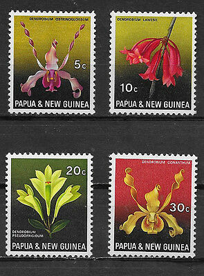 Papua & New Guinea , 1969 , Orchids, Set Of 4 Stamps Perf, Mnh