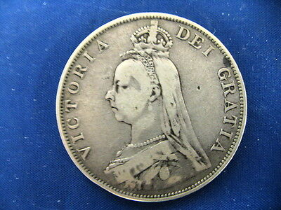Great Britain 1889 Double Florin Silver Coin