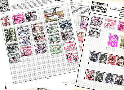 Stamps Pakistan removed  from old albums see all scans