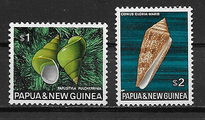 Papua & New Guinea , 1968/69 , Clams , $1 & $2  Stamps ,  Perf, Mnh
