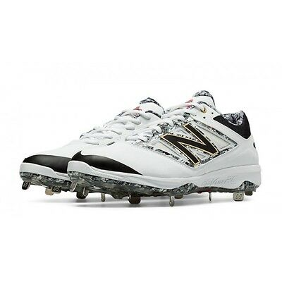 Size 8.5 Men's New Balance Metal Baseball Cleats L4040PW3 White/Black Best Out