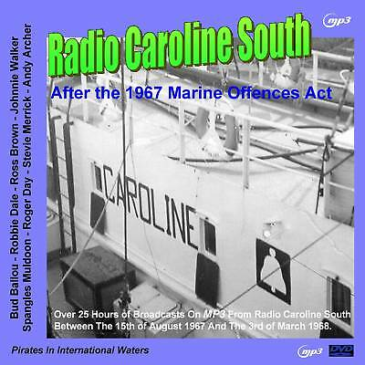 Pirate Radio Caroline South AFTER THE 14th AUG 1967 (VOL 1) MP3 DVD Disc