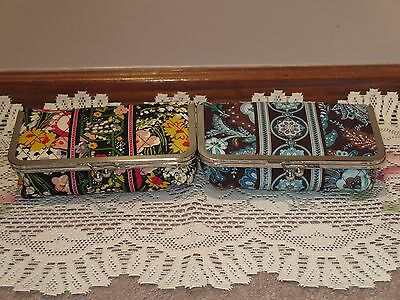 "Vera Bradley ""Kiss & Makeup"" Kisslock Plastic Lined Cosmetic Cases (Lot of Two)"
