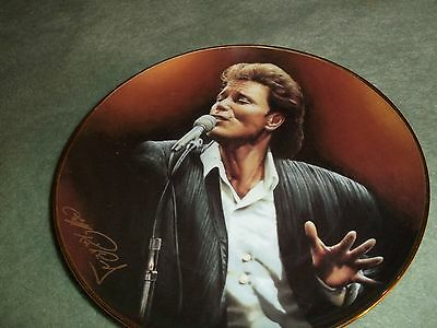 """Cliff Richard  Collectable Plate """"the One And Only"""" Forty Glorious Years"""