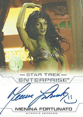 STAR TREK ENTERPRISE SEASON 4 - AUTOGRAPH Menina Fortunato as Maras