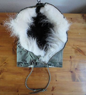 Genuine Air Force Flyer's Hood, Fur Ruff, Fire Resistant Aramid, for CWU-45/P