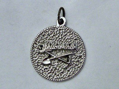 YELLOWKNIFE NWT Vintage Sterling Silver MINER PICK & SHOVEL Charm
