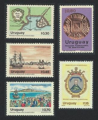 Uruguay 250th Anniversary of Montevideo 5v SG#1657/61