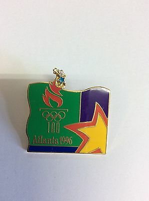 Atlanta Olympic Games 1996 Torch logo and Star Pin