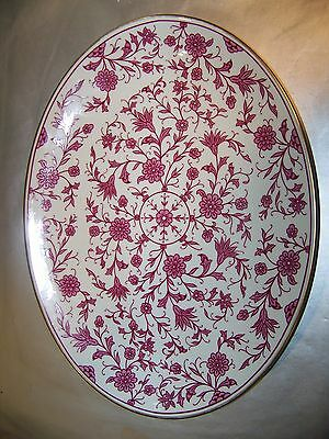 Franciscan China Platter Lorraine Maroon Pattern C. 1940S