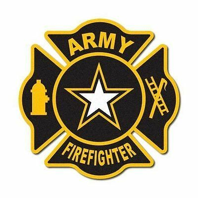 FIREFIGHTER DECAL - FIRE STICKER  - Army Firefighter Reflective Decal
