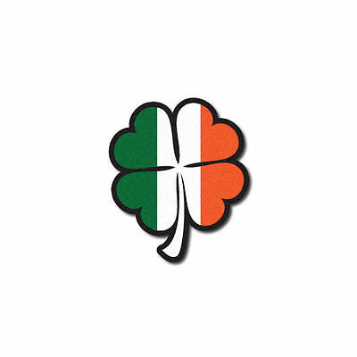 FIREFIGHTER HELMET DECALS FIRE HELMET STICKER- Reflective Irish Flag Shamrock