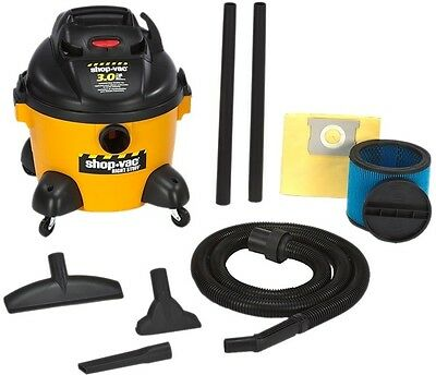 Shop Vac Vacuum 6 Gallon Wet Dry Stainless Steel Tank 3 HP Filter Accessories