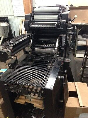 AB DICK 9810 XC 2-Color Offset Press WITH MONA NUMBERING-DIECUTTING - Supplies