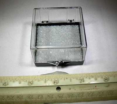 HIGH QUALITY 2.0 x 2.0 x 1.5 INCH CLEAR PLASTIC HINGED MINERAL DISPLAY CASES!