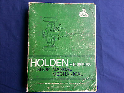 Genuine Holden HK Shop Service Repair Mechanical Manual - Part#M35954